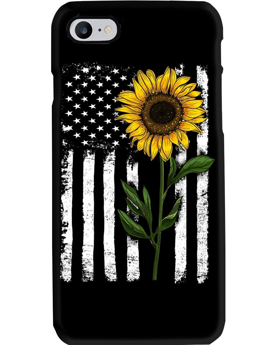 Sunflower American flag Phoncase Phone Case