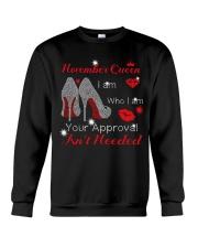 November Gift for Birthday Girl Crewneck Sweatshirt thumbnail