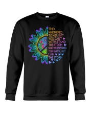 Hippie Strong Woman Crewneck Sweatshirt thumbnail