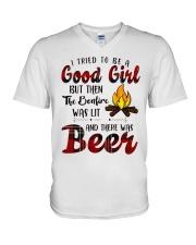 Good Girl Beer V-Neck T-Shirt thumbnail