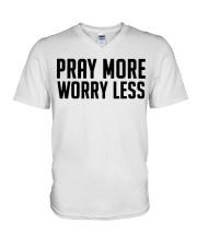 PRAY MORE V-Neck T-Shirt thumbnail