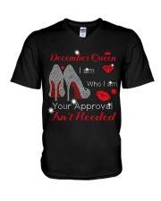 December Gift for Birthday Girl V-Neck T-Shirt thumbnail