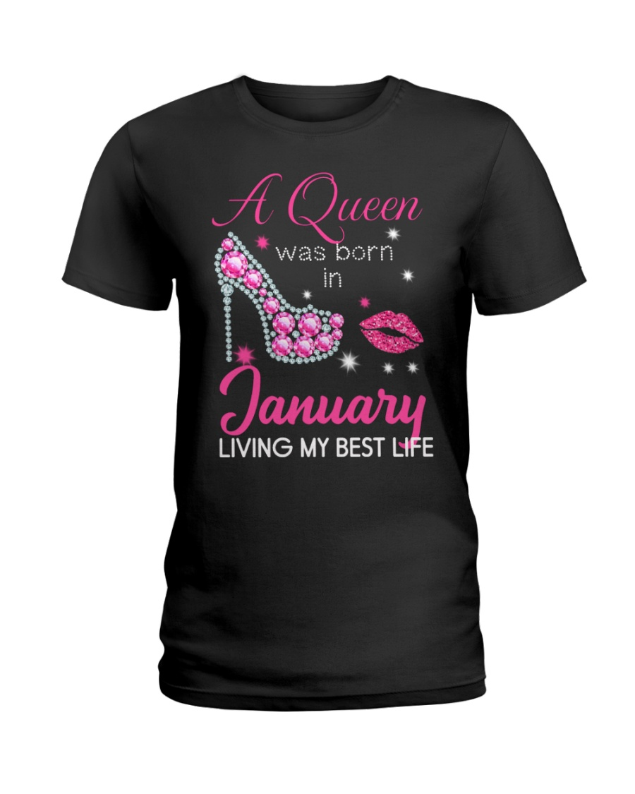 January Gift for Birthday Girl Ladies T-Shirt