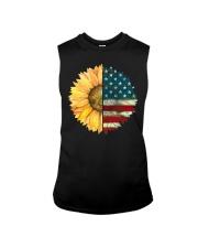 Sunflower American Flag Sleeveless Tee thumbnail