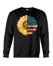 Sunflower American Flag Crewneck Sweatshirt thumbnail