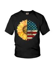 Sunflower American Flag Youth T-Shirt thumbnail