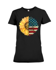 Sunflower American Flag Premium Fit Ladies Tee thumbnail