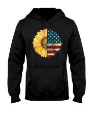 Sunflower American Flag Hooded Sweatshirt thumbnail