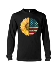 Sunflower American Flag Long Sleeve Tee thumbnail