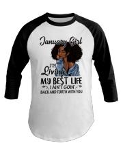 January Gift for Birthday Girl Baseball Tee thumbnail
