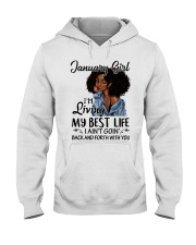 January Gift for Birthday Girl Hooded Sweatshirt thumbnail