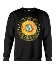 Sunflower hippie Girl Crewneck Sweatshirt thumbnail