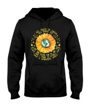 Sunflower hippie Girl Hooded Sweatshirt thumbnail