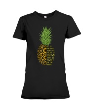 Pineapple sunflower Premium Fit Ladies Tee thumbnail