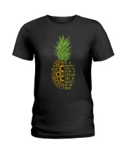 Pineapple sunflower Ladies T-Shirt thumbnail