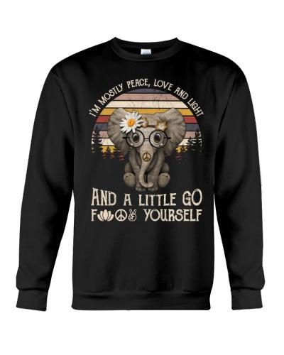 Hippe Elephant Peace love and Light