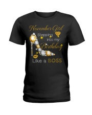 November Gift for Birthday Girl Ladies T-Shirt thumbnail