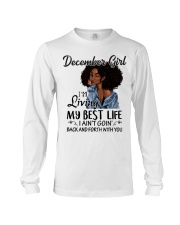 December Gift for Birthday Girl Long Sleeve Tee tile