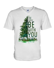 Forest be with you V-Neck T-Shirt thumbnail