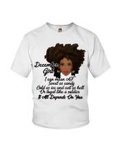 December Gift for Birthday Girl Youth T-Shirt thumbnail