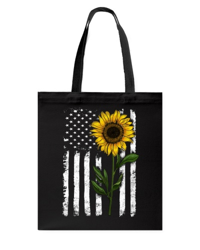 Sunflower American Flag