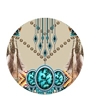 SHN 10 Native American pattern Circle Coaster tile