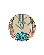 SHN 10 Native American pattern Circle Magnet thumbnail