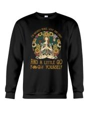 Hippie girl yoga Crewneck Sweatshirt thumbnail