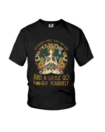 Hippie girl yoga
