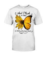 Sunflower Butterfly Classic T-Shirt front