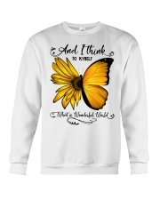 Sunflower Butterfly Crewneck Sweatshirt thumbnail