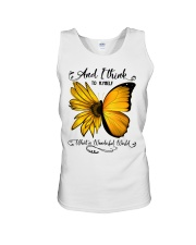 Sunflower Butterfly Unisex Tank thumbnail