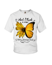 Sunflower Butterfly Youth T-Shirt thumbnail
