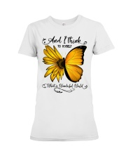 Sunflower Butterfly Premium Fit Ladies Tee thumbnail