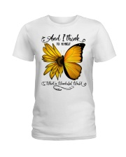 Sunflower Butterfly Ladies T-Shirt thumbnail