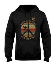 Hippe girl Living life in Peace Hooded Sweatshirt thumbnail