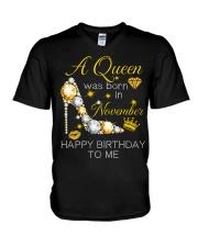 November Gift for Birthday Girl V-Neck T-Shirt thumbnail