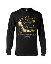 November Gift for Birthday Girl Long Sleeve Tee thumbnail