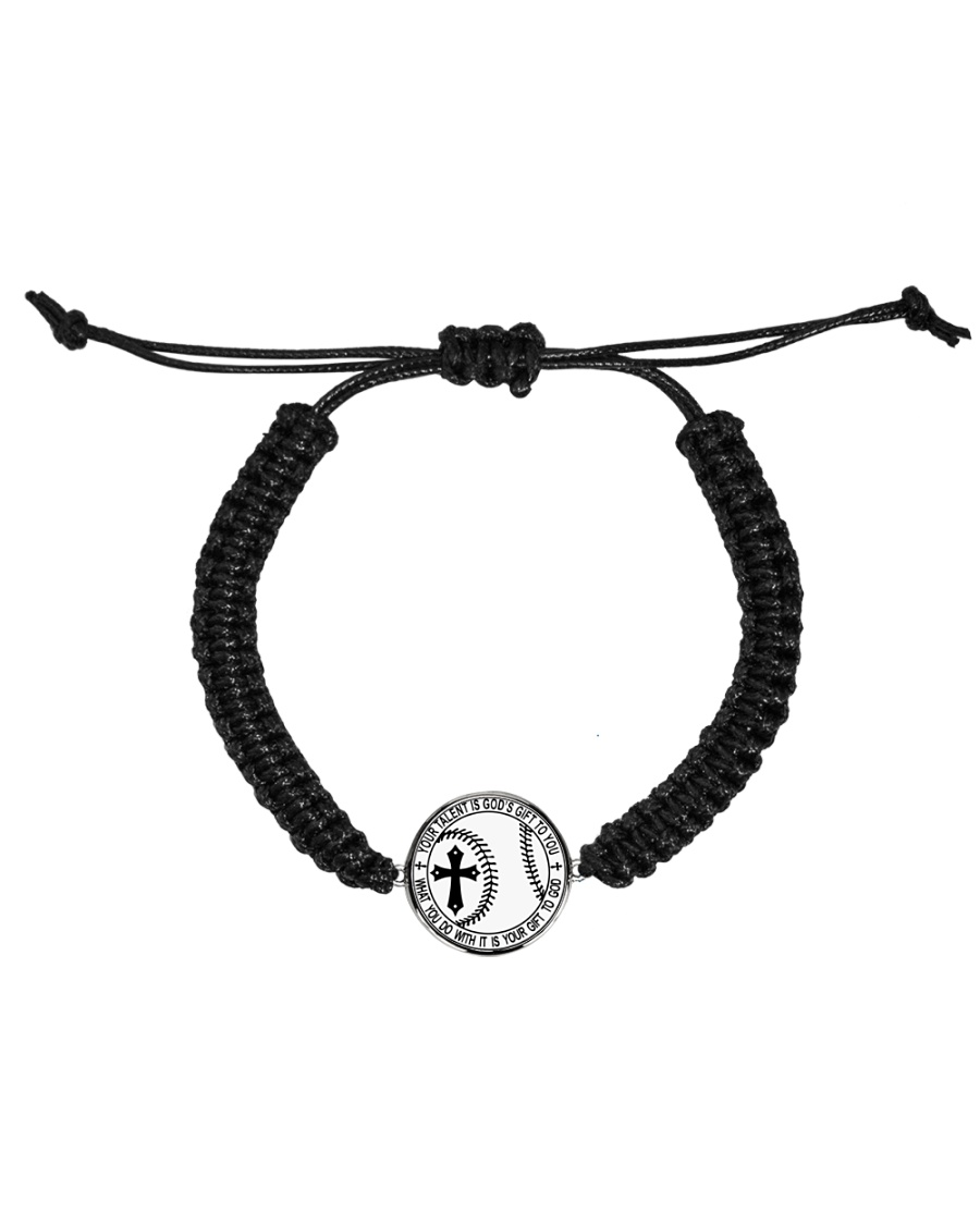 Your talent is God's gift to you Cord Circle Bracelet
