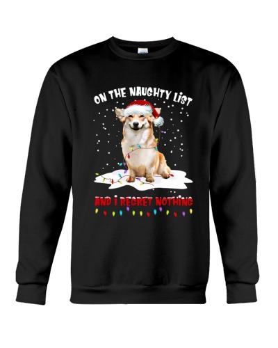 DogTee Corgi On The Naughty List