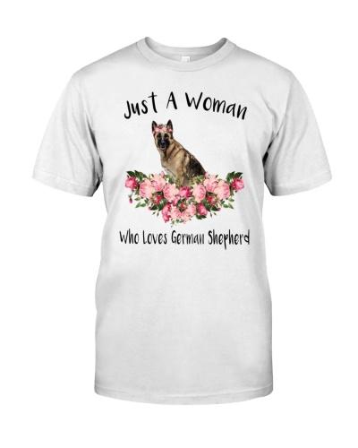 HT German Shepherd A Woman
