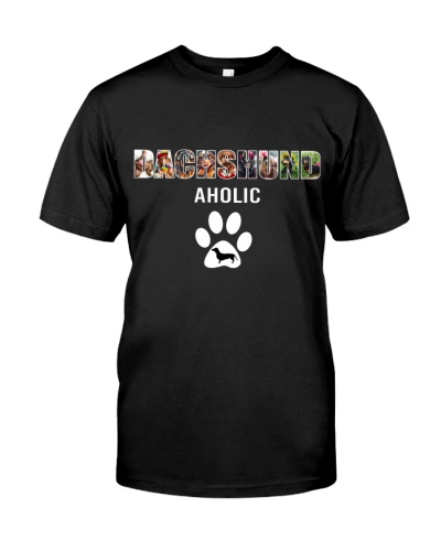 Dogtee Dachshund Aholic Gift For Dog Lovers
