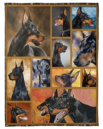 DogTee Blanket Doberman Cute Gift For Dog Lovers