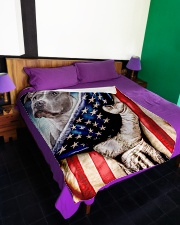 """American Pit Bull Terrier Patriotic Four Legged Large Fleece Blanket - 60"""" x 80"""" aos-coral-fleece-blanket-60x80-lifestyle-front-01"""