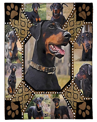 Doberman Full Ears Embroidery