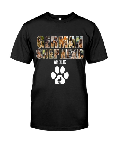 DogTee German Shepherd Aholic Gift For Dog Lovers