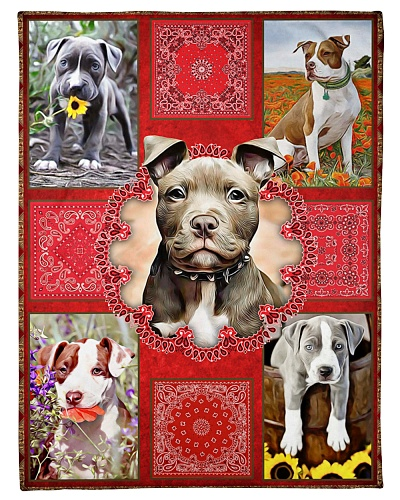 DogTee American PitBull Terrier Red Bandanas