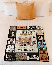 "DogTee Chihuahua Who Loves Me Gift For Dog Lovers Small Fleece Blanket - 30"" x 40"" aos-coral-fleece-blanket-30x40-lifestyle-front-04"