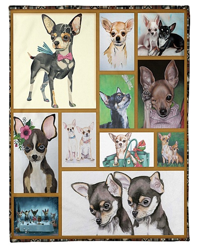 DogTee Blanket Chihuahua Cute Gift For Dog Lovers