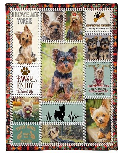 DogTee Blanket Yorkie Anatomy Gift For Dog Lovers